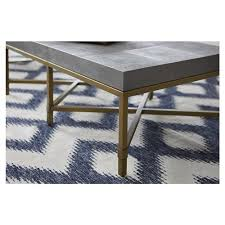 The kate unique coffee tables. Kate Modern Classic Grey Wood Top Gold Metal Base Coffee Table 41 W 50 W Kathy Kuo Home