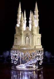Cinderella Castle Cake Topper Wedding Fairytale With Swarovski
