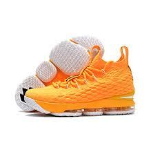 lebron james shoes 15. nike lebron 15 shoes orange white james