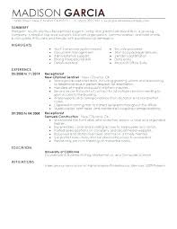 Sample Of Receptionist Resume Best of Resume Examples For Medical Receptionist Resume Sample Download