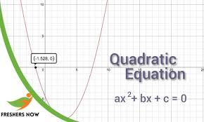 quadratic equations quiz test