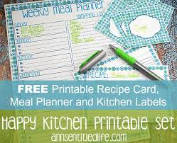 Recipe Labels Free Printable Recipe Card Meal Planner And Kitchen Labels