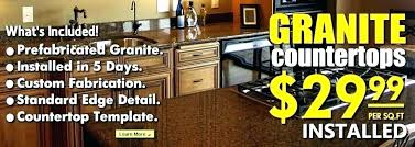 granite countertops per square foot home depot granite countertop costs