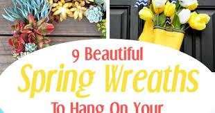 9 Beautiful DIY Spring Wreaths - DIY Home Sweet Home