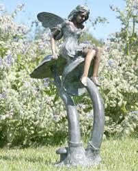 fairy toadstools bronze statue
