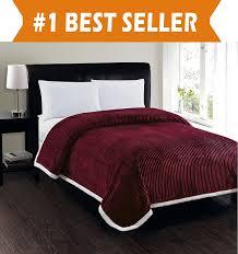 queen sherpa blanket. Brilliant Blanket Elegant Comfort Best Softest Luxury MicroSherpa Blanket On Walmart  Heavy Weight Stripe Design Ultra Plush Blanket FullQueen Burgundy In Queen Sherpa