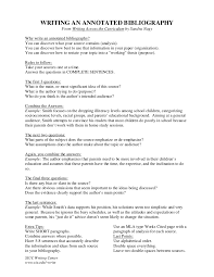 Examples Of Annotated Bibliography In Apa Format  th Edition