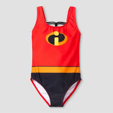 Girls' The Incredibles One Piece Swim Suit - Red : Target
