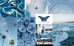 blue aesthetic collage wallpaper ...