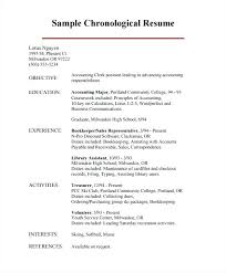 Chronological Format Resume Gorgeous Sample Resume Chronological Format Chronological Example Example