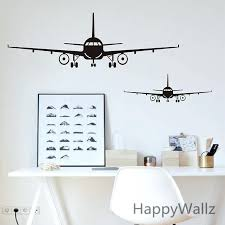 airplane wall art airplane wall stickers wall decor airplane wall art decal decoration vinyl stickers removable airplane wall art  on flight wall art with airplane wall art like this item vintage flight wall art hatree me