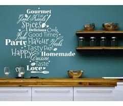 kitchen words wall decal sticker mural