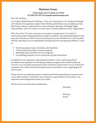 program manager cover letter samples 10 management cover letters examples resume samples
