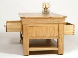 round oak coffee tables side table wooden natural color of wood and drawers there rustic sleeper plans