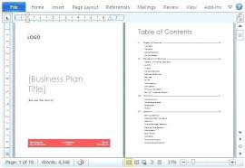 Business Plan Template Word Doc Model Free Ustam Co