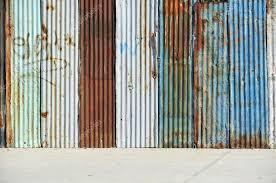 metal texture of corrugated tin wall stock photo