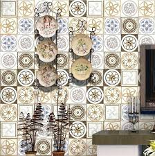kitchen tile decals new style gold exotic floor tile stickers stickers for kitchen bathroom waterproof wall kitchen tile decals