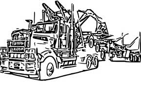 logging coloring pages truck coloring pages for kids and adults