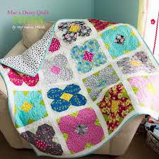 Lap Quilt Patterns Interesting Mae's Daisy Lap Quilt Pattern FaveQuilts