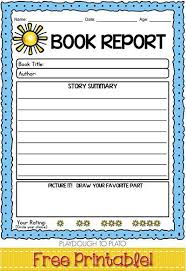 Book Free Printable Report Template Review Form Middle