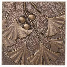 Bronze Wall Decor Whitehall Products Gingko Leaf Wall Decor Reviews Wayfair
