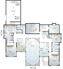 modern house plan swimming pool best of plans with