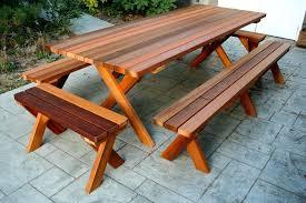large picnic table wood cedar round plans