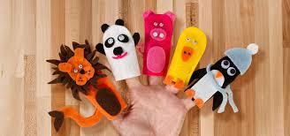 diy no sew felt finger puppets