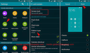 Pattern Lock Screen Fascinating Samsung Galaxy S48 How To Change Pattern Grid Style On Lock Screen