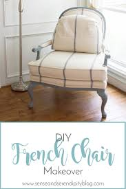 DIY French Chair Makeover   Sense \u0026 Serendipity   Bergere Chair ...