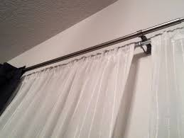 tension rod sheer curtains