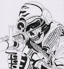 Small Picture Call Of Duty Ghosts Coloring Pages Inside glumme