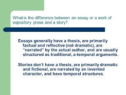 writing fiction a crash course in creating characters plot and  what is the difference between an essay or a work of expository prose and a story