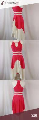 Minuet Dress Gorgeous Coral And Light Cream Dress So Flowy