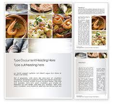 Food Recipe Template Sea Food Recipes Word Template 10779 Poweredtemplate Com
