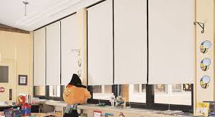 classroom window. Child-friendly Window Shades Are A Great Choice For Education Buildings Where Children Present Classroom L