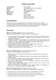 Resume Samples For Experienced Finance Professionals Best Banking