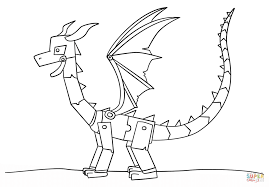 Minecraft Ender Dragon coloring page | Free Printable Coloring Pages