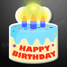 Light Up Happy Birthday Cake Led Blinky Pin Flashingblinkylights