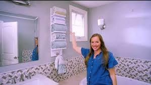 how to make an angled shelf towel rack