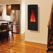 amantii 16 x 41 inch vertical convex black glass front electric fireplace wm 1641
