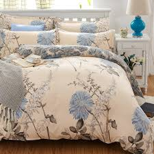 elegant fl bedding set polyester cotton bed linen sets 4pcs bedspreads kids twin size blue duvet
