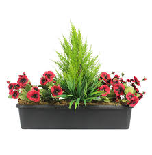 Artificial Window Artificial Pansy Window Box Fake Flowering Pansy Box Blooming