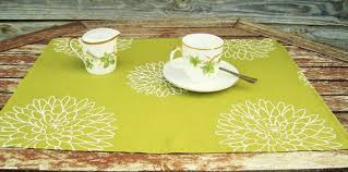 cotton fabric dining table placemat