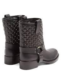 Rockstud Spike quilted-leather biker boots | Valentino ... & Valentino Rockstud Spike quilted-leather biker boots Adamdwight.com