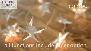 <b>Battery</b> Operated Multifunction Warm White LED <b>Star Fairy Lights</b> ...