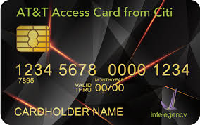 at t access card from citi no annual