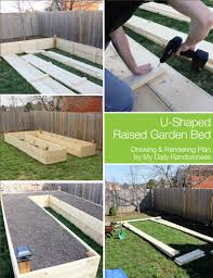 how to build a garden. How To Build A U-Shaped Raised Garden Bed // Drawing And Rendering
