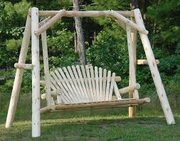 white cedar unstained love seat swing w