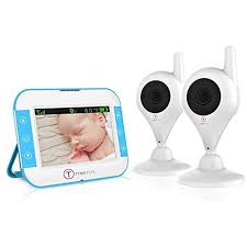 TimeFlys <b>Video Baby</b> Monitor TC350 2 Cameras <b>3.5 Inch</b> LCD ...